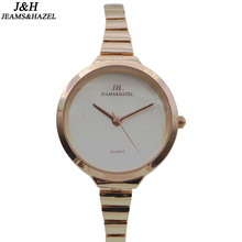 De Moda de lujo señora slim marca dw reloj de cuarzo para mujer reloj de pulsera de oro relojes de pulsera de acero inoxidable reloj fino JH