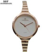 De luxe De Mode lady slim marque montres montre à quartz pour les femmes bracelet or montre dw montres en acier inoxydable mince montre JH