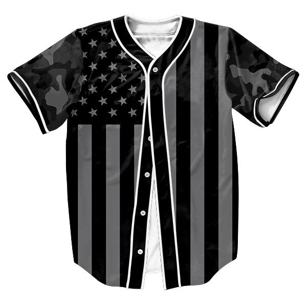Camo Bandera Camiseta camisas de Los Hombres sobrecamisa 3d Streetwear Hip Hop tops con estilo Único Breasted verano camisa del béisbol