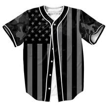 Камуфляж Флаг Джерси мужские рубашки overshirt 3d Уличная Хип-Хоп топы с Однобортный летом стиль бейсбол рубашки