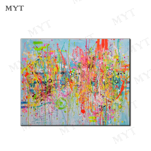 MYT Painting No Framed Hand Made Abstract Home Decor Canvas Painting For Living Room Decoration Pictures Oil Painting Wall Art