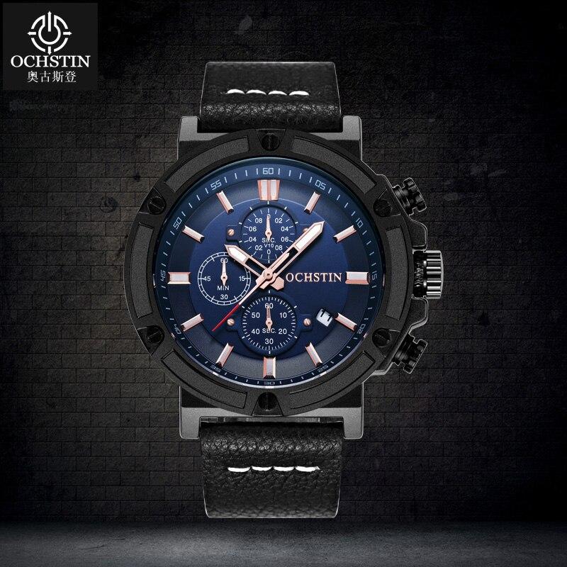 купить OCHSTIN Original Watch Men Sport Quartz Men Watches Chronograph Wrist Watch Relogio Time Hour Clock Mens Watches Reloj Hombre по цене 2647.3 рублей