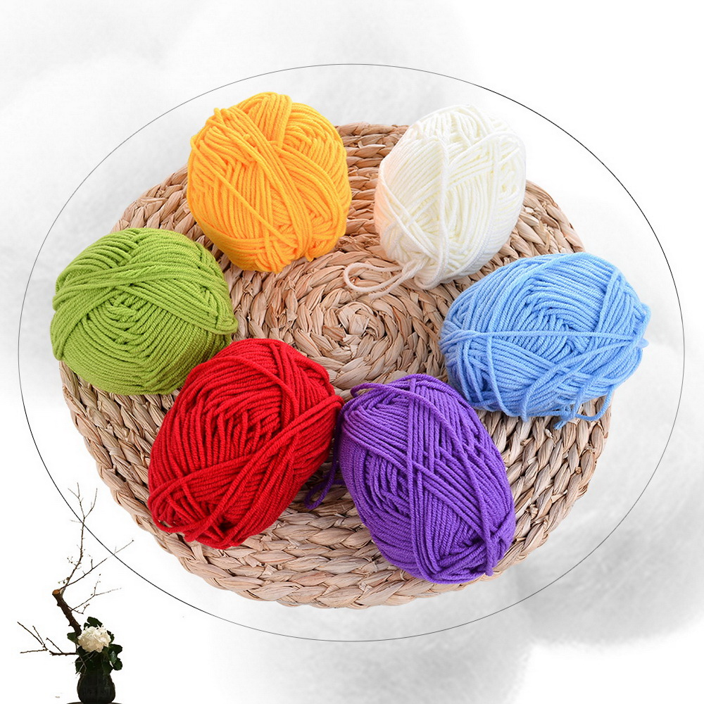 Thick Warm DIY Crochet Knitting Hand-woven Milk Soft Baby Cotton Wool Yarn Hand Knitted Yarn Knit Doll Blanket Crochet Yarn 25g
