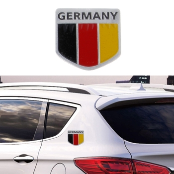 Aluminum German Flag Car Sticker Logo Emblem Badge For Audi BMW VW Skoda emblem