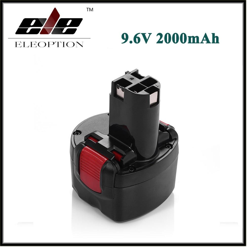 BAT048 Eleoption 9.6V 2000mAh Ni-CD Rechargeable Battery Pack Power Tools Batteries for Bosch PSR 960 BH984 BAT048 BAT119 1 pc new 9 6v 2000mah replacement battery for bosch bh984 psr gsr 9 6 bat048 bpt1041 bat100 vhg17 t50