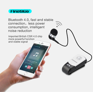 Earphone Bluetooth-Clip Retractable Handsfree-Call Fineblue Earbud Standby-Support intelligent Noise Cancel call vibration F960