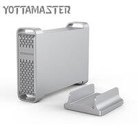 Yottamaster High-end HDD Docking Station Type-C om SATA 2.5 inch aluminium Hard Drive Disk Case HDD Behuizing Ondersteuning UASP 4 TB