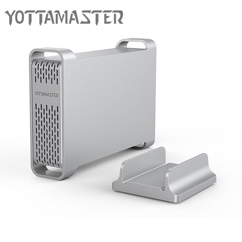 Yottamaster haut de gamme HDD Station d'accueil type-c à SATA 2.5 pouces en aluminium boîtier de disque dur HDD boîtier Support UASP 4 to