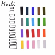 MUSHI Black White Watchbands Strap Loop Silicone Rubber Watch Bands Accessories Holder Mens Locker Watch Band 20 color 6pcs