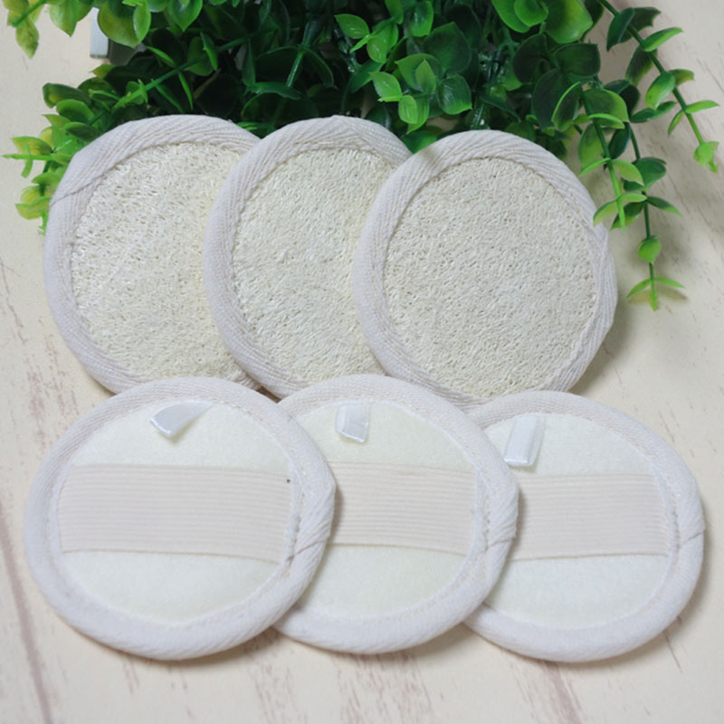 100pcs  Loofah Exfoliation Luffa Facial Skin Disc-in Bath Brushes, Sponges & Scrubbers from Home & Garden    1