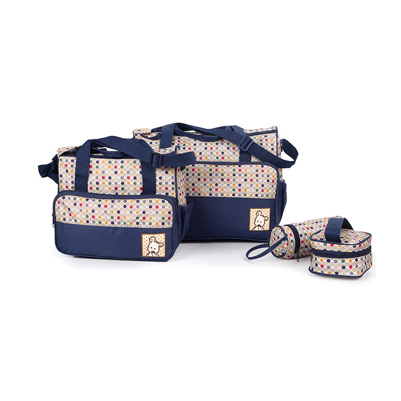 OkayMom 5pcs Mother Bag Designer Women Fashion Diaper Bag Multi-functional Nappy Bags For Mommy Baby Storage Mama Bags