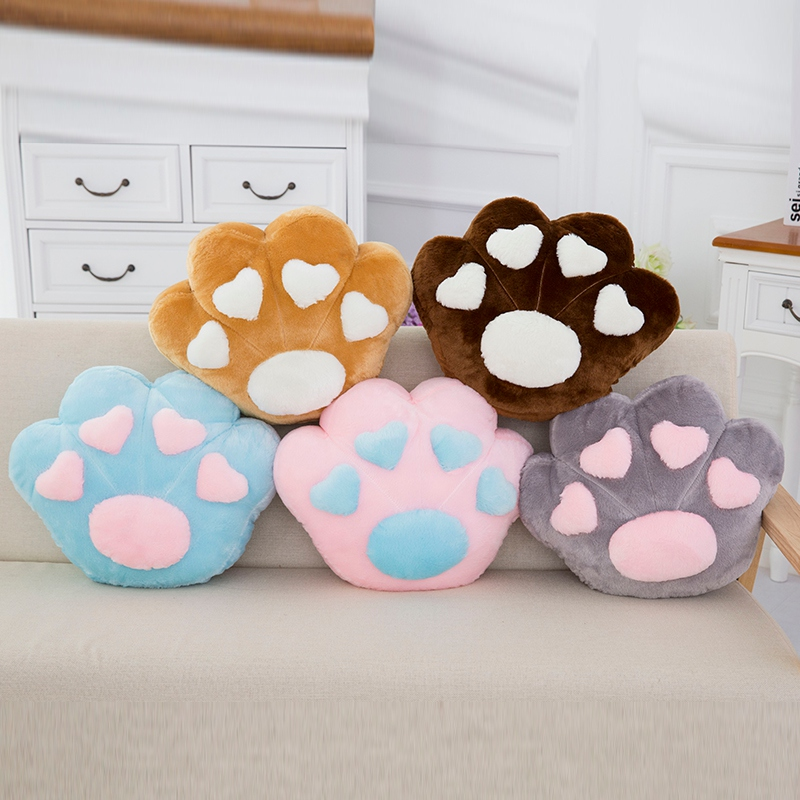 Cartoon Puppy Dog Paw Pillow & Blanket Stuffed Soft Animal Plush Toys Figure Dog doll Kids Baby Children's birthday Gift 65cm plush giraffe toy stuffed animal toys doll cushion pillow kids baby friend birthday gift present home deco triver
