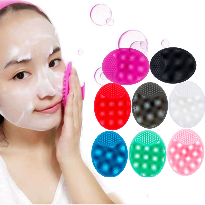 Silica Gel Cleaning Pad Sucker Silicone Face Cleansing Brush Wash Face Facial Exfoliating Brush Skin Cleanser Makeup Tool TSLM1