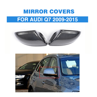 Carbon Fiber Replacement style side Rearview mirror covers for Audi Q7 Sline SUV 4 Door 09 15 without side lane assist hole