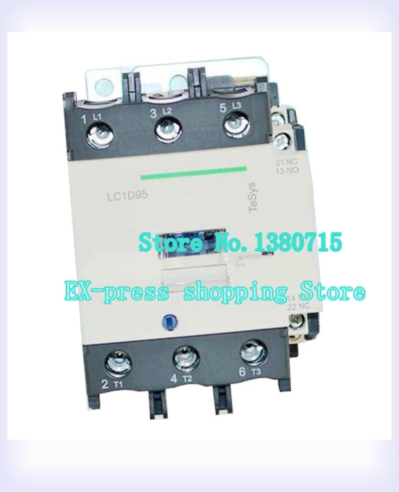 New LC1D95F7C Contactor 95A AC 110V 50/60Hz LC1-D95F7C new lc1d300m7c tesys d contactor 300a ac 220v 50 60hz lc1 d300m7c