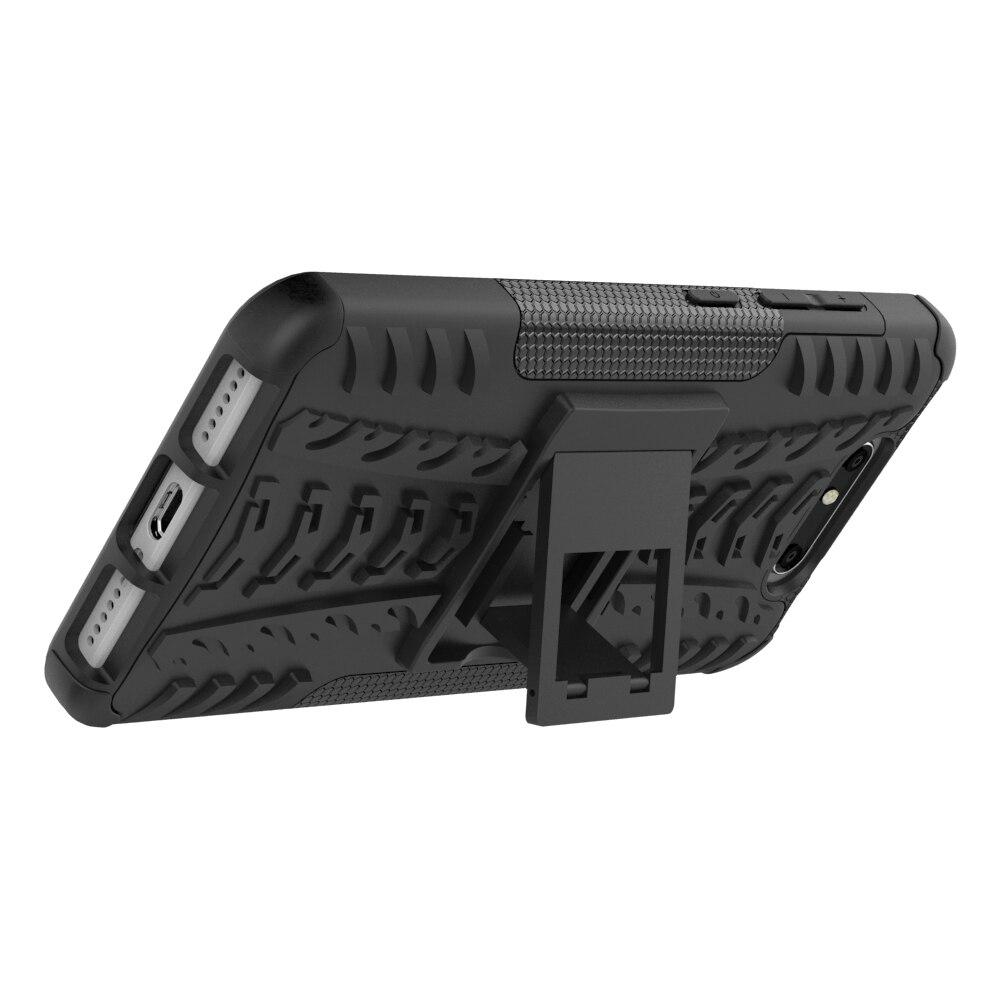 Funda ZTE Blade V8 5.2inch TPU y PC Dual Armor Capa con soporte Funda - Accesorios y repuestos para celulares - foto 4