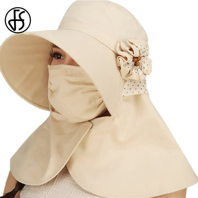 FS verano sol sombrero para las mujeres de moda de algodón sol visera  sombreros de Ala b7093c0f4cc