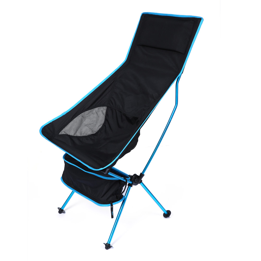 Lengthened Foldable Portable Outdoor Chair With EPE Pillow Foot Strap Aluminium Alloy Ultralight Comfortable Fishing Chair