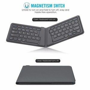 Image 2 - MoKo Wireless Bluetooth Keyboard,Ultra Thin Foldable Rechargeable Keyboard for iPhone,iPad 9.7, iPad pro, Fire HD 10,for All iOS
