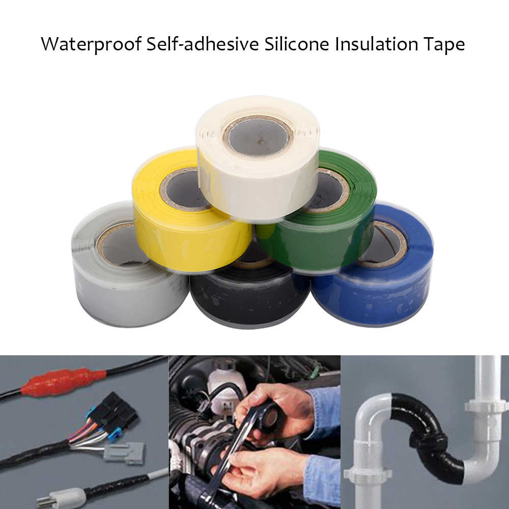 Colorful Waterproof Self-adhesive Silicone Tape Sealing Insulation Repair Tapes For Electrical Cables Connections Water Pipe