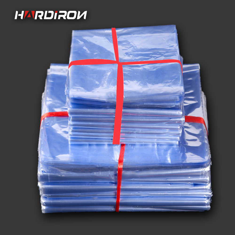 HARD IRON Pvc heat shrink bags Clear Membrane Plastic Cosmetic Packaging pouches Plastic shrinkable bags