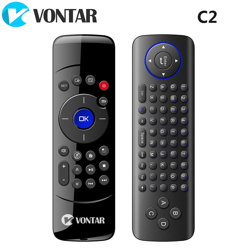 [Genuine] VONTAR C2 2.4GHz Fly Air Mouse Wireless Keyboard Remote Control with IR Learning Function for Android TV Box mele f10 deluxe fly air mouse 2 4ghz wireless keyboard remote control with ir learning function for smart android tv box mini pc
