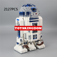 Hot space star battle r2 d2 model building block r2d2 super robot figures bricks 10225 toys collection for children adult gifts