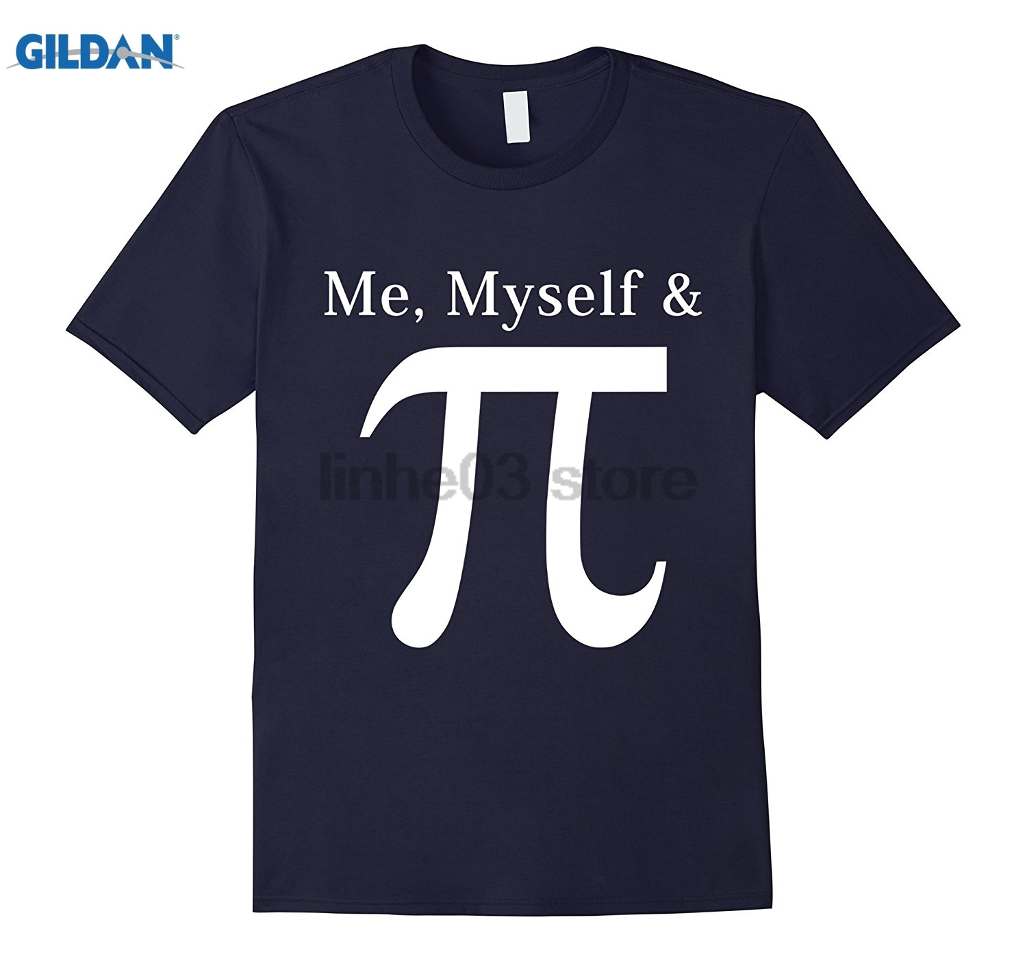 GILDAN My Myself and Pi, Funny And Witty Pi Day Tshirt Womens T-shirt