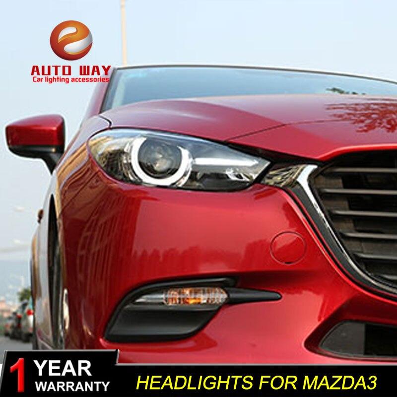 Գլխի լամպի պահոց Mazda 3 M3 Axela Mazda3 2017 2018 - Ավտոմեքենայի լույսեր - Լուսանկար 3
