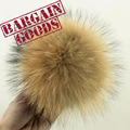 100pcs 10cm Real raccoon fur pom poms fur balls DIY fur jewelry Accessories for knitted Cap Keychain Beanies fur Accessories