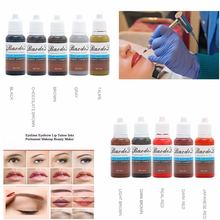 10 шт пигментные чернила для перманентного макияжа 15 мл/бутылка