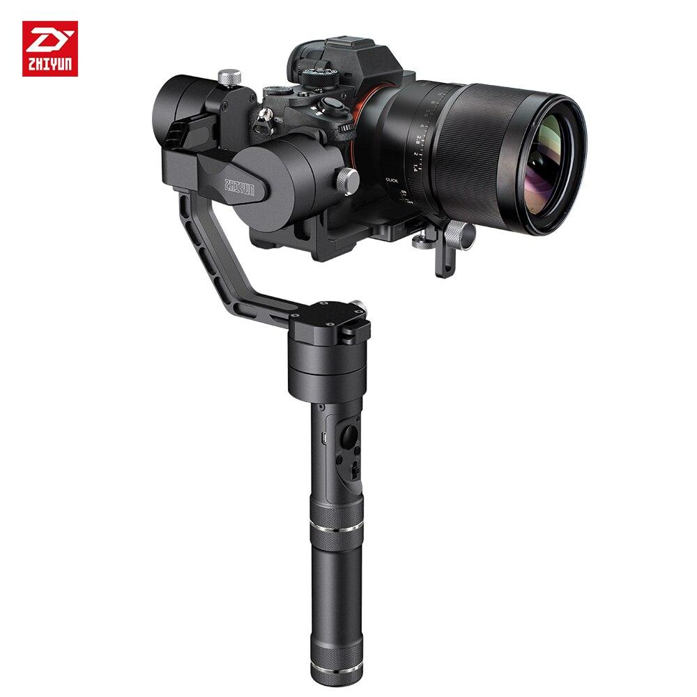 Чжи Юн Zhiyun официальный кран <font><b>v2</b></font> 3 оси Бесщеточный Ручной видео Камера стабилизатор Gimbal Комплект Для беззеркальных DSLR Камера