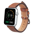 V-MORO Genuine Leather watch band Single Tour Bracelet Leather Band strap For Apple Watch Band 38mm 42mm