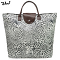 ZIWI Brand 4 Colors New Designer Women Handbags Vintage Flower/ Leopard Animal Print  Tote Bag Ladies Handbag  QQ1697