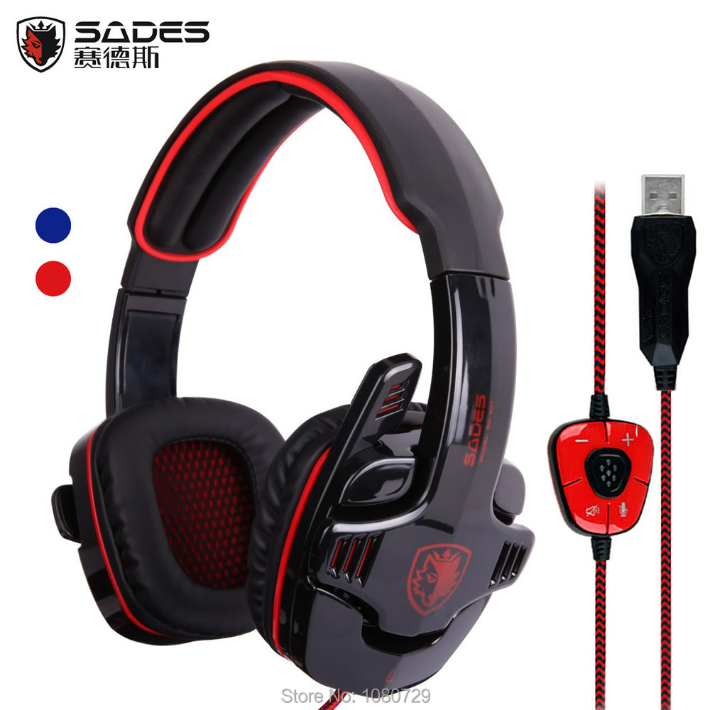 Hot Sale Sades 901 USB Gaming Headset 7 1 Surround Sound Game Headphone Earphone With Microphone