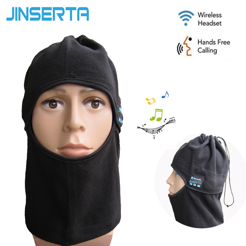 JINSERTA Winter Sport Headband Wireless Bluetooth Headset Stereo Music Headphone Cycling Skiing Warm Scarf Earphone with Mic qcy qy7 wireless bluetooth 4 1 stereo sport earphone headphone studio music headset with mic black green
