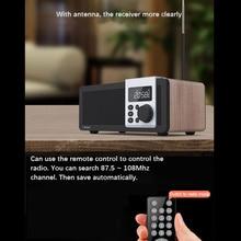CLAITE D26 Remote Bluetooth4.1 Speaker Digital Alarm Clock Speaker 2500mah Stereo Radio FM MP3 Smart Speaker Handfree with Mic