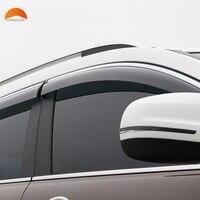 For Jeep Cherokee 2014 2015 2016 ABS Plastic Window Visor Sun Visor Door Visors Sun Rain
