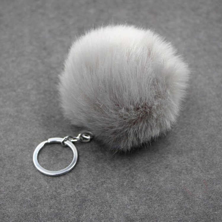 Chaveiros Trinket Keychain Pompons Pele Chaveiro Encantos Accessoreis Fofo Pom Pom Keychain Chaveiro Para DIY Bijuterias