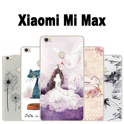 hot sale online 30795 02d6f US $1.99 |Xiaomi mi max phone case TPU Cartoon soft case for max Xiaomi max  case cover New arrival painting Xiomi Xiaomi mi max case-in Half-wrapped ...