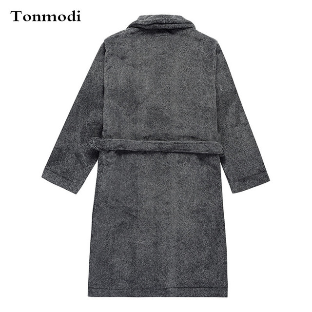 90db6a6879 Luxury cationic soft lovers robe bathrobes sleepwear coral fleece autumn  and winter long design