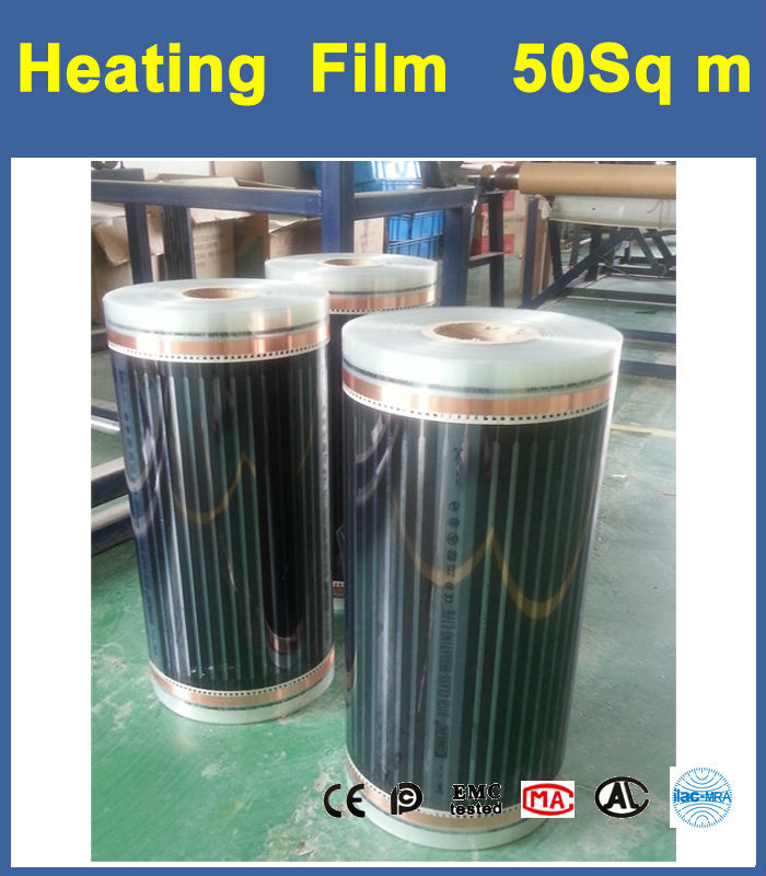 Floor Heating Films 0.5M * 100M per roll thickness 0.25mm voltage 230VAC 50Hz  Max Surface Temperature 73 degree C 3m laminate floor grounding kit 3047 [price is per each]