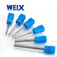 WEIX 5pcs 3 175mm Carbide Tungsten Corn Cutter cutting PCB milling end mill  CNC router bits for Engraving machine