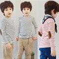 Горячие продажи Размер90 ~ 140 топы тис дети футболки для мальчиков с длинным рукавом футболки одежда для девочек полосы моды