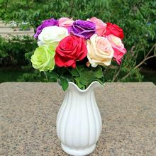 10pcs/lot Silk real touch rose artificial gorgeous flower wedding fake flowers for home party decor Valentines gift
