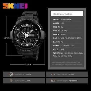 Image 5 - SKMEI 1320 цифровой 2 раз подсветкой Наручные часы хронограф жизнь Водонепроницаемый часы Для мужчин Для женщин Fshion Повседневное браслет