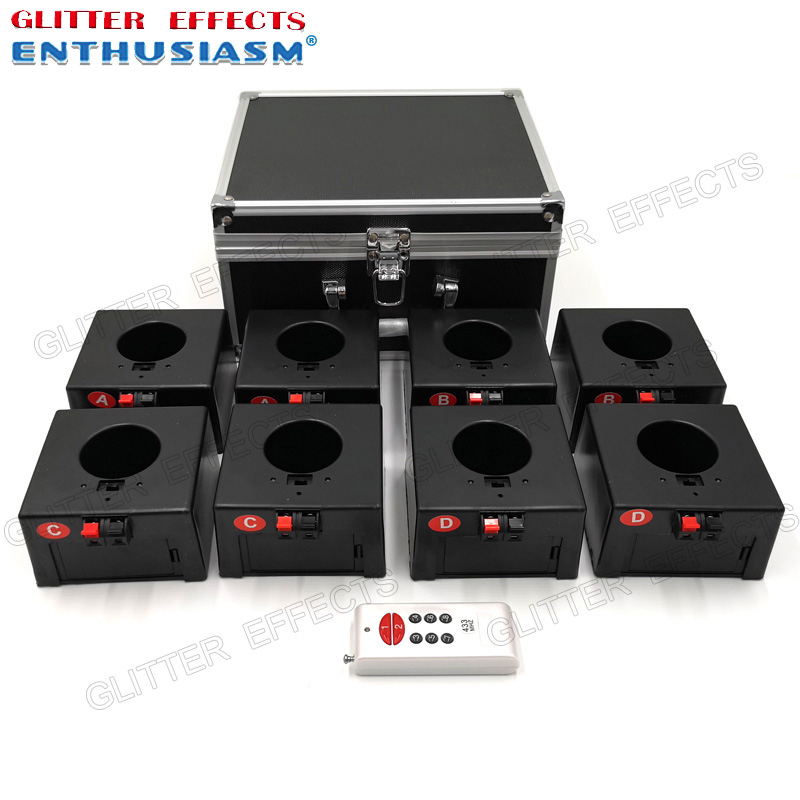 D08 single remote control eight channel receiver indoor fountain base wedding machine