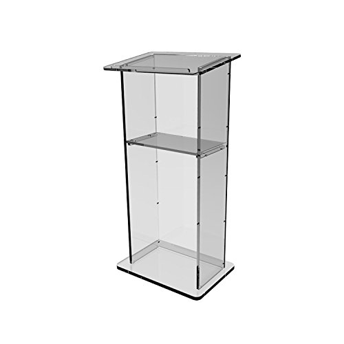 Fixture Displays Podium, Plexiglass Clear Acrylic Lucit Lectern Pulpit  Assembled  ASSEMBLED Plexiglass