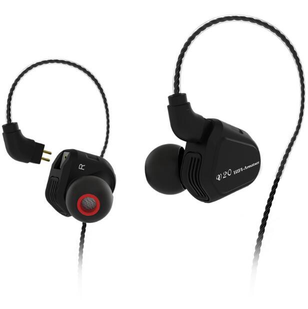 TRN V20 DD + BA híbrido en auricular del oído HIFI DJ Monitor auriculares deportivos auricular con 2PIN Cable