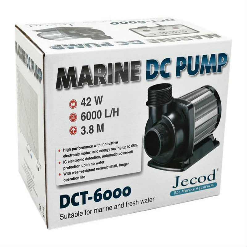 Jecod/Jebao DCT-6000 Variable Flow DC Aquarium Tank Return Water Pump with Controller Marine Reef Submersible Sump Pump 6000L/hJecod/Jebao DCT-6000 Variable Flow DC Aquarium Tank Return Water Pump with Controller Marine Reef Submersible Sump Pump 6000L/h